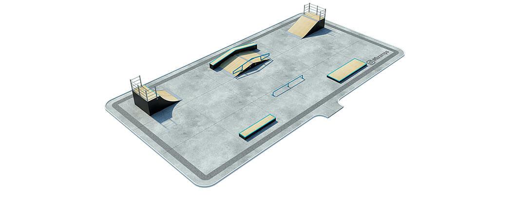 План деревянного скейт парка Д-02 от FK-ramps