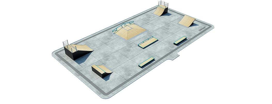 План деревянного скейт парка Д-03 от FK-ramps