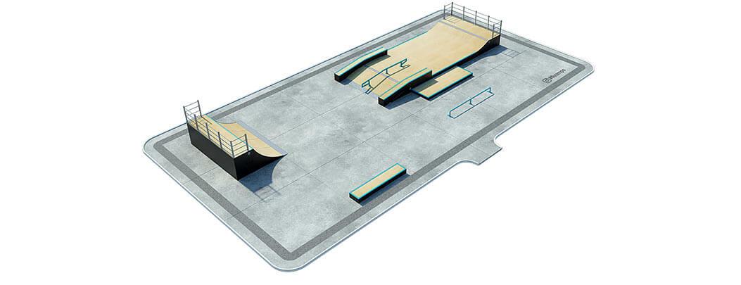 План деревянного скейт парка Д-04 от FK-ramps