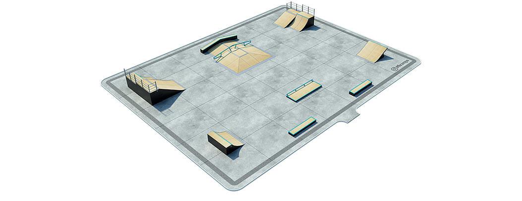 План деревянного скейт парка Д-05 от FK-ramps