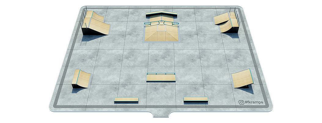Проект деревянного скейт парка Д-05 от FK-ramps