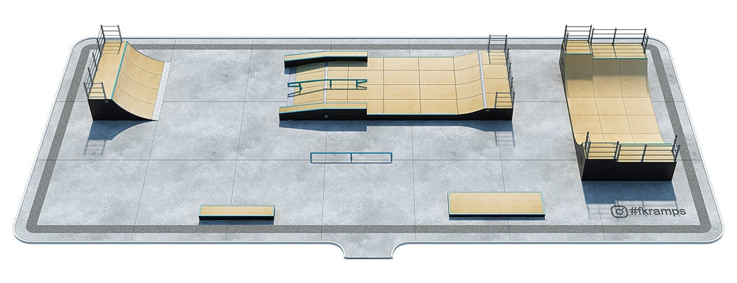 Проект деревянного скейт парка Д-06 от FK-ramps