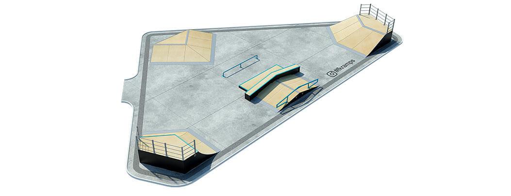 План деревянного скейт парка Д-07 от FK-ramps