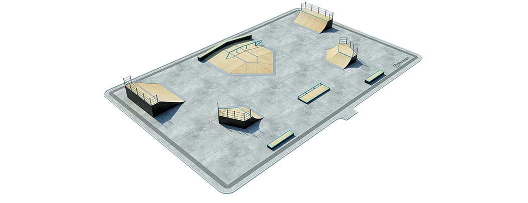 Макет деревянного скейт парка Д-09 от FK-ramps
