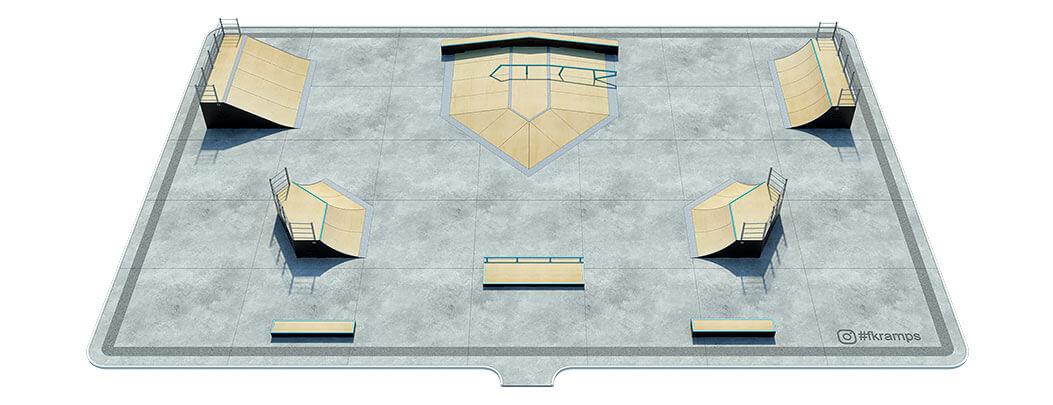 План деревянного скейт парка Д-09 от FK-ramps
