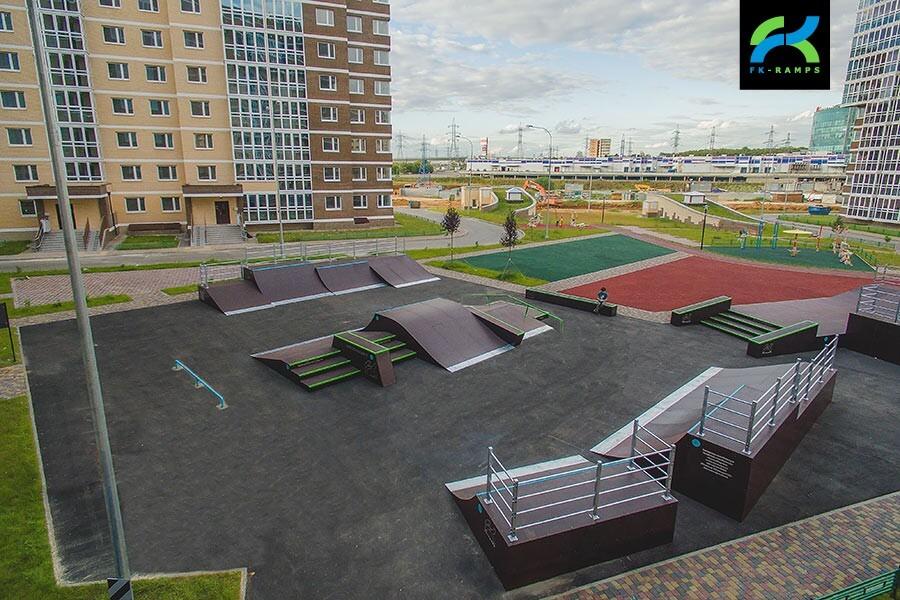 Деревянный скейт‑парк в ЖК «Татьянин Парк»