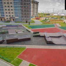 Деревянный скейт парк в Татьянином парке - FK-ramps