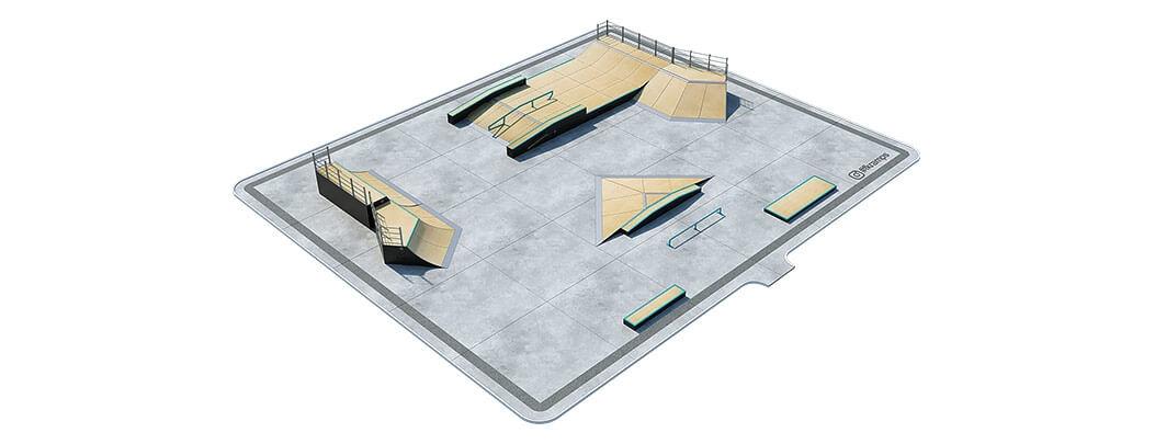 План деревянного скейт парка Д-08 от FK-ramps