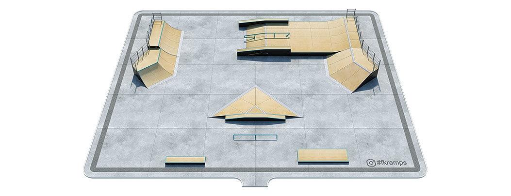 Проект деревянного скейт парка Д-08 от FK-ramps