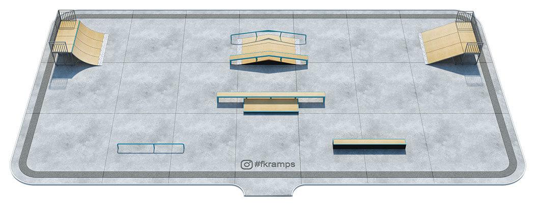 Проект металлического скейт парка М-01 - FK-ramps