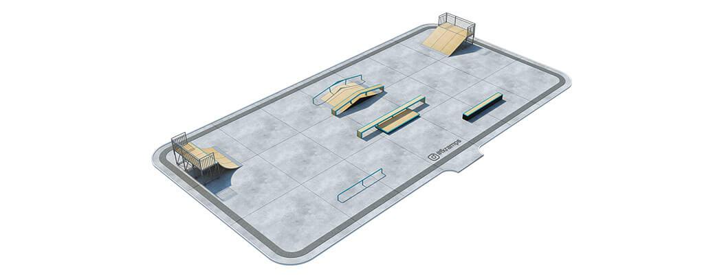 Проект металлического скейт парка М-01 от FK-ramps
