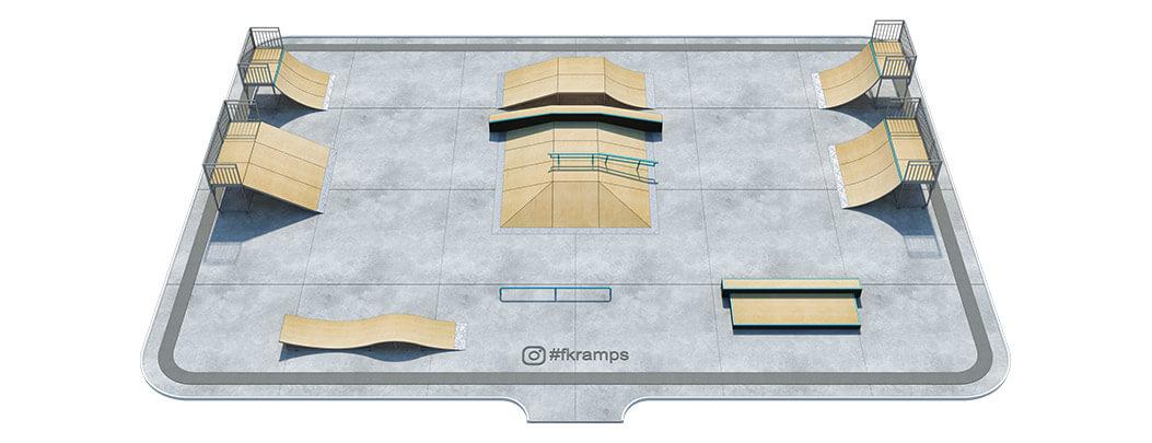 Проект металлического скейт парка М-02 - FK-ramps