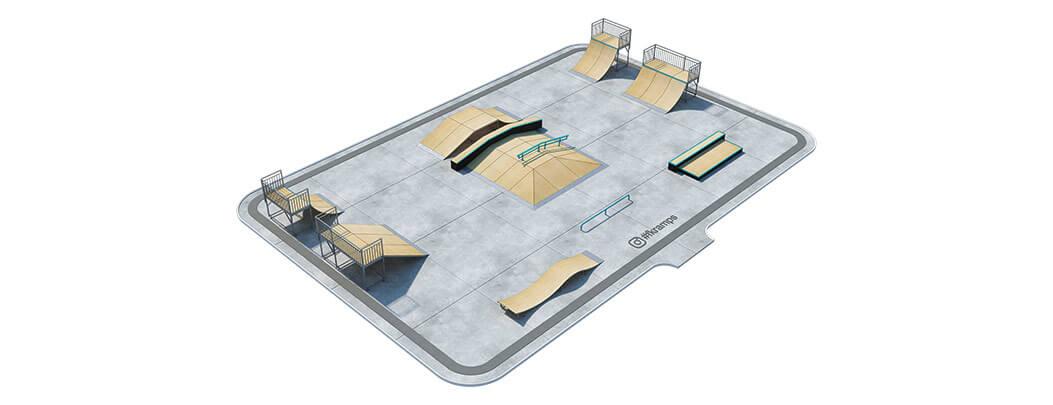 Проект металлического скейт парка М-02 от FK-ramps