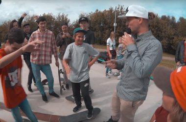 Видео с открытия бетонного скейт-парка на Осташковской улице