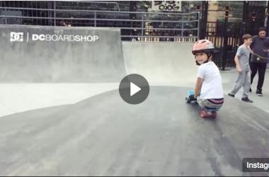Скейт-школа в бетонном скейт-парке на Введенской улице