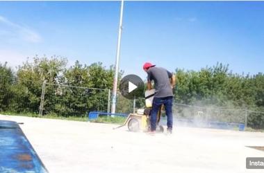 Видео со строительства бетонного скейт-парка на Хотьковской улице