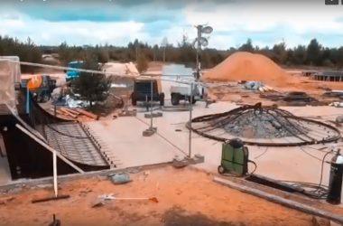 Видео со строительства бетонного скейт-парка в г.Ковров