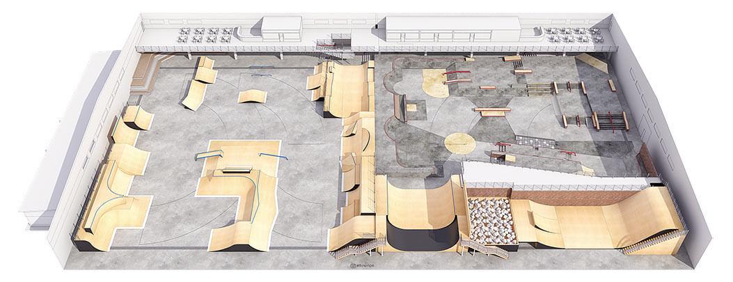 Крытый скейт парк КР-03 - FK-ramps