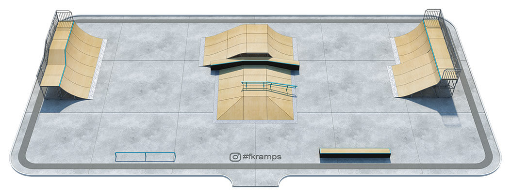 Проект металлического скейт парка № М-03 - FK-ramps