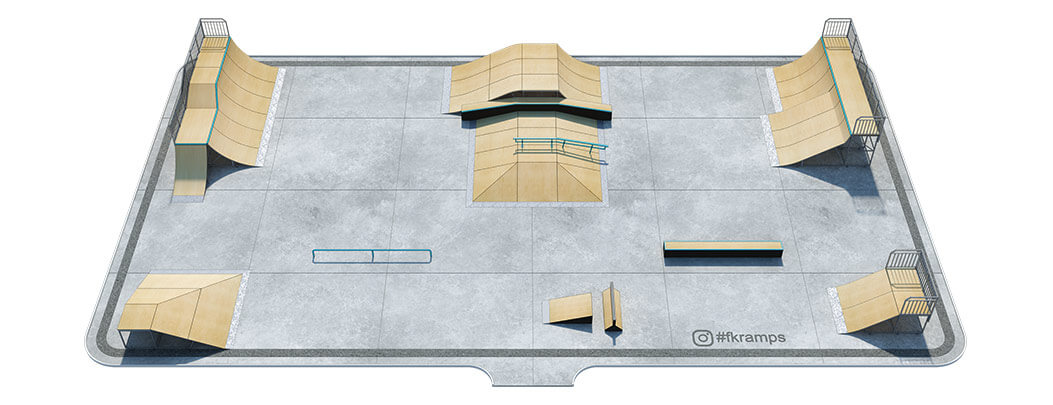 Проект металлического скейт парка № М-04 - FK-ramps