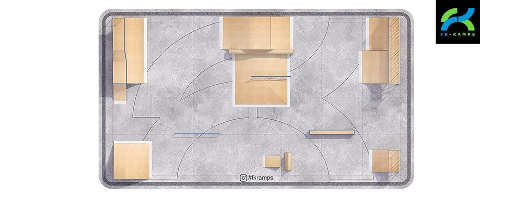 Проект металлического скейт парка М-04 от FK-ramps