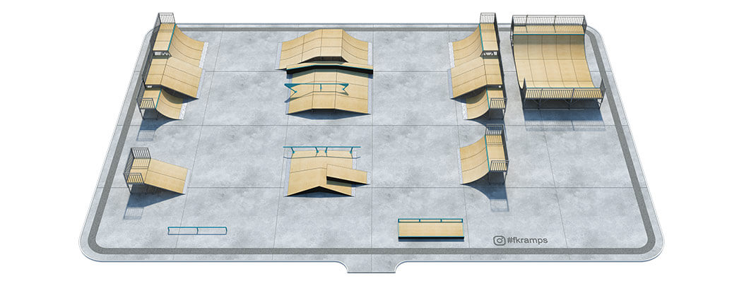 Проект металлического скейт парка № М-05 - FK-ramps