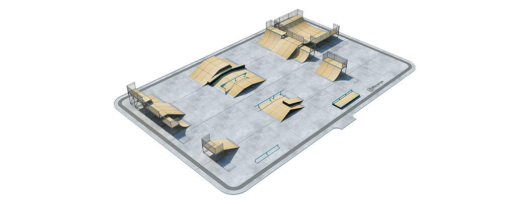 Проект металлического скейт парка М-05 от FK-ramps