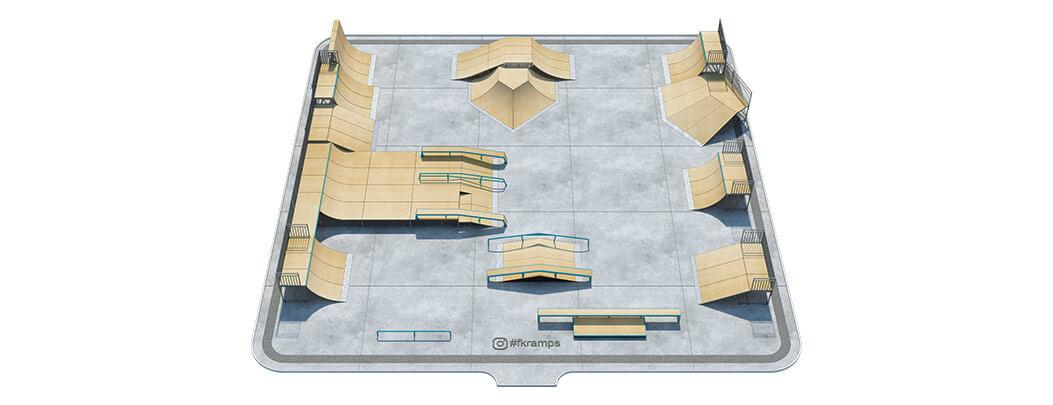 Проект металлического скейт парка от FK-ramps