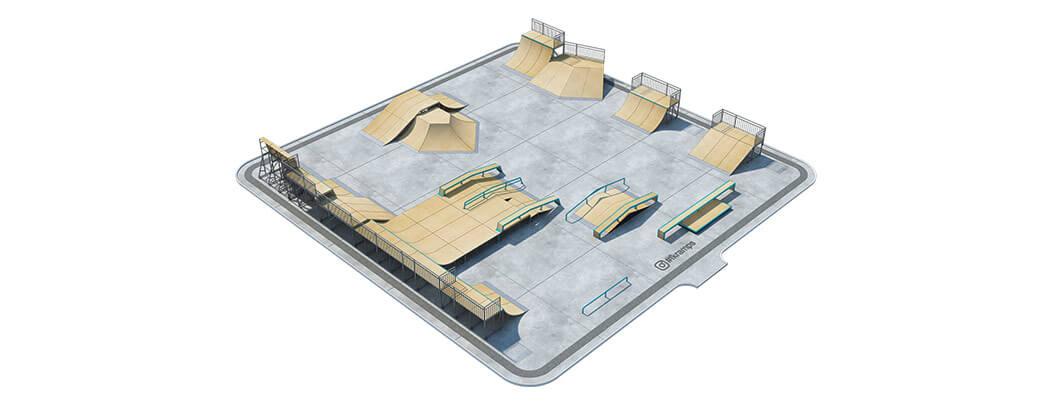 Проект металлического скейт парка М-06 от FK-ramps