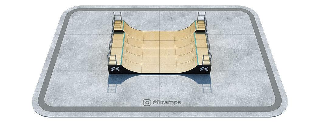 Двухуровневая мини рампа на деревянном каркасе - FK-ramps