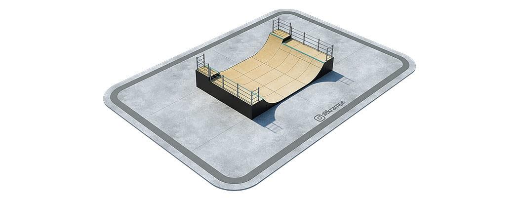Двухуровневая рампа для скейта на деревянном каркасе - FK-ramps