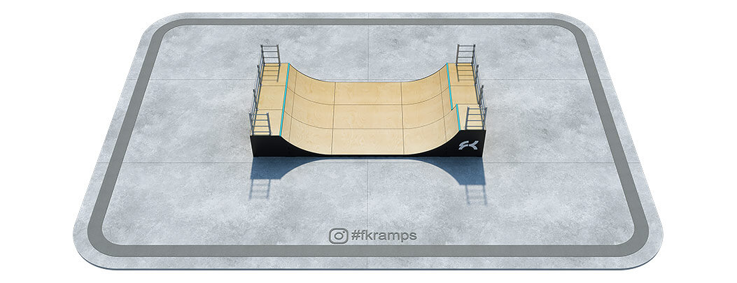 Двухуровневая мини рампа на деревянном каркасе РД-05 - FK-ramps