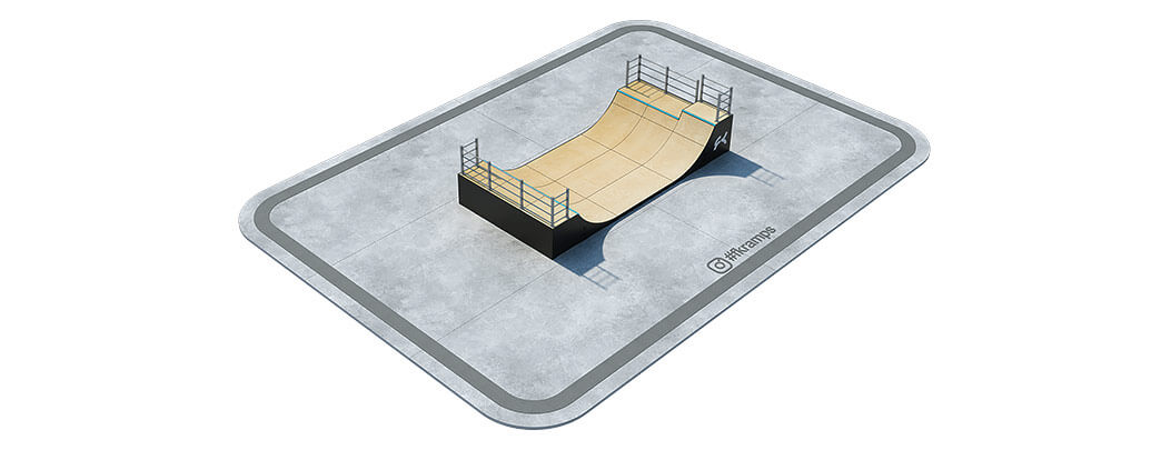 Двухуровневая рампа для скейта на деревянном каркасе РД-05 - FK-ramps