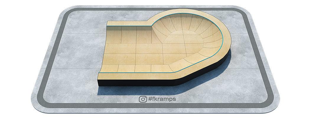 Пул-рампа мини на деревянном каркасе - FK-ramps