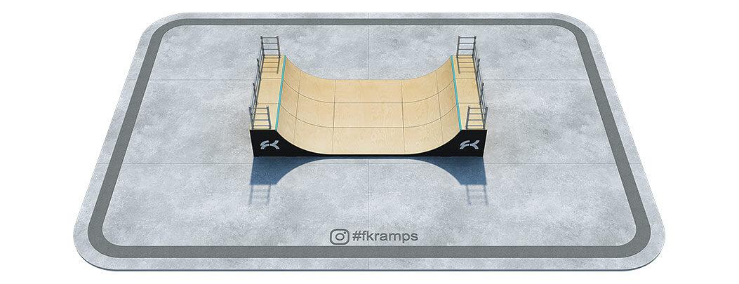 Одноуровневая рампа на деревянном каркасе - FK-ramps