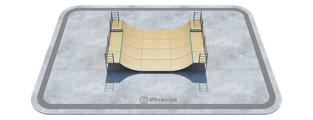 Двухуровневая мини рампа на металлическом каркасе - FK-ramps