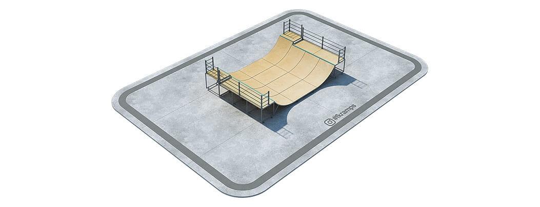 Купить двухуровневую рампу для скейт на металлическом каркасе - FK-ramps