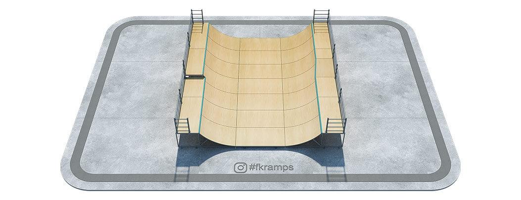 Двухуровневая рампа с переходом на металлическом каркасе - FK-ramps