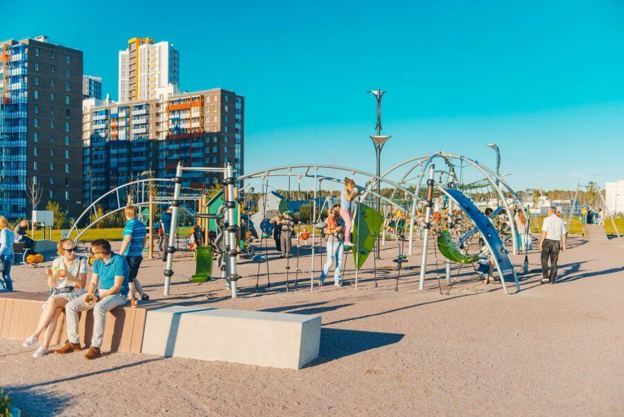 Обзор общественного пространства МЕГА-парк в Кудрово