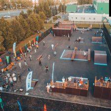 Деревянный скейт парк в Зеленограде от FK-ramps