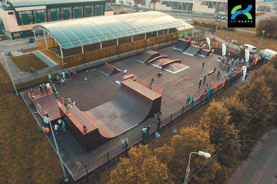 Деревянный скейт-парк в Зеленограде