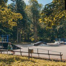 Металлический скейт-парк в Зеленогорском ПКиО