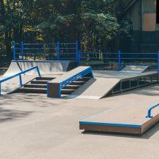 Металлический скейт парк в Зеленогорском парке- FK-ramps