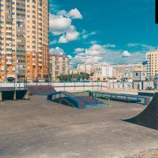 Деревянный скейт-парк у Ледового дворца Петербурга, фото № 3