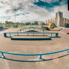Деревянный скейт-парк у Ледового дворца Петербурга, фото № 4
