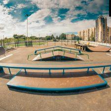 Деревянный скейт-парк у Ледового дворца Петербурга, фото № 10