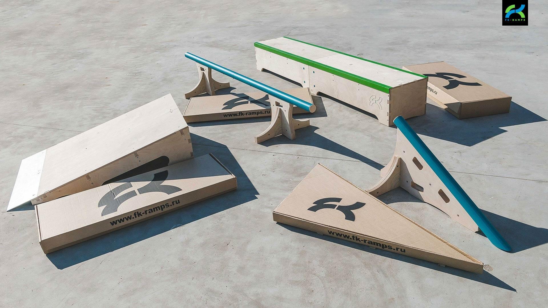 Набор для катания на скейте - FK-ramps
