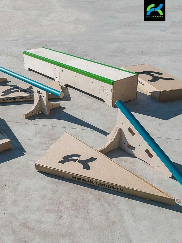 Наборы для катания на скейте от FK-ramps