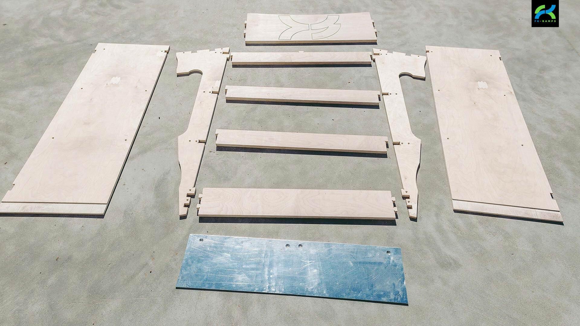 Набор для катания на bmx - FK-ramps