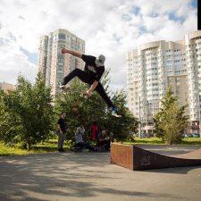Деревянный скейт-парк в Екатеринбурге